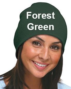 Bayside 100% Acrylic Beanie Forest Green
