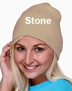 Bayside 100% Acrylic Beanie Stone
