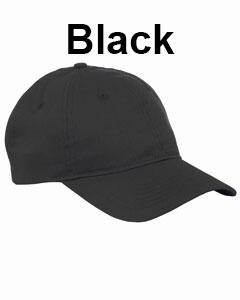 Big Accessories 6-Panel Twill Unstructured Cap Black