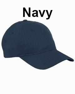 Big Accessories 6-Panel Twill Unstructured Cap Navy