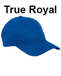 Big Accessories 6-Panel Twill Unstructured Cap True Royal