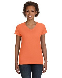 LAT Ladies' V-Neck Fine Jersey T-Shirt