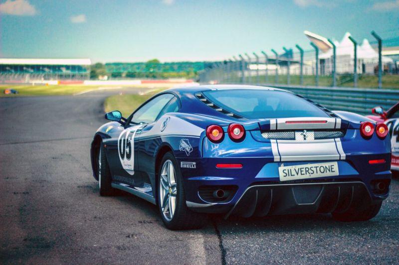 picture of ferrari racing automobile