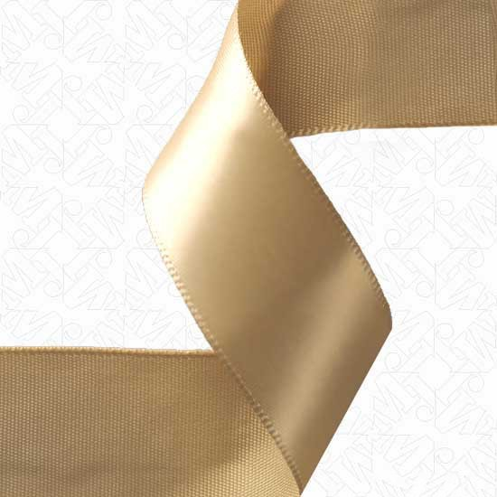 "7/8"" SINGLE FACE SATIN RIBBON - TAN"