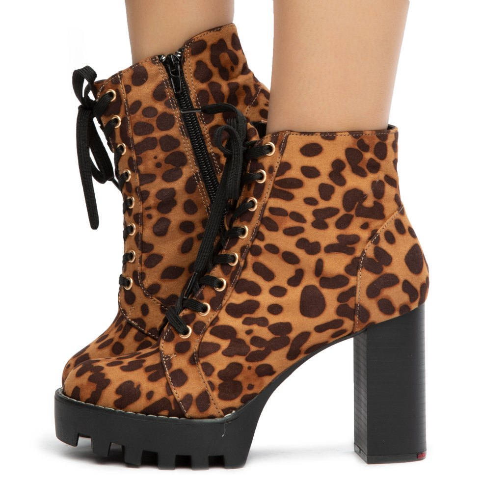 Intensity-04 Lace-Up Chunky Booties