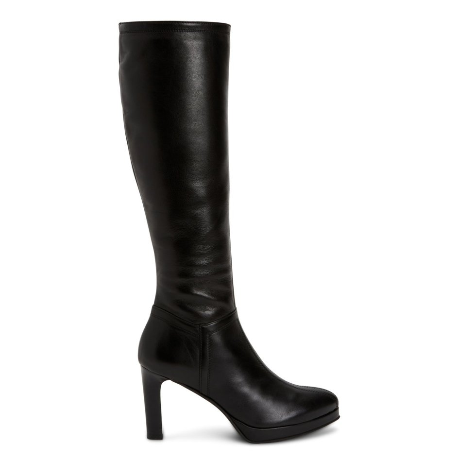 Aquatalia Raelynn Black In Size 8.5 - Leather - Made In Italy