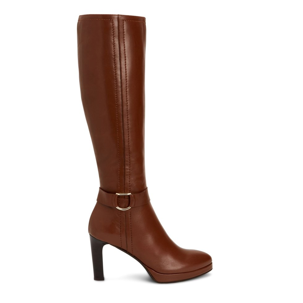 Aquatalia Ryleigh Caramel In Size 8 - Leather - Made In Italy