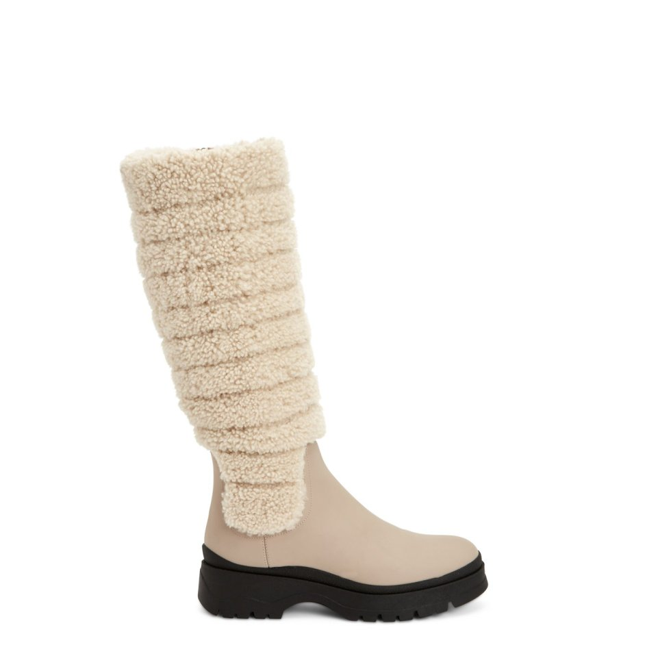 Aquatalia Skyla Taupe/natural In Size 7 - Leather - Made In Italy