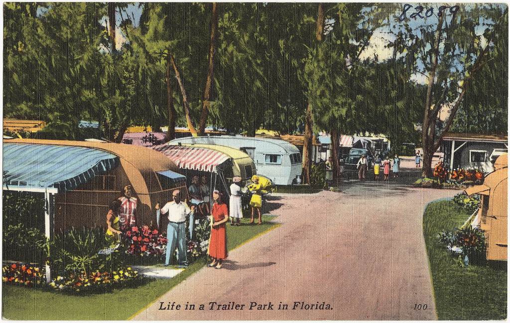 """""""Life in a Trailer Park in Florida"""" (Boston Public Library/Flickr)"""