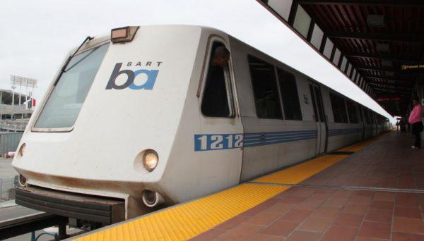 BART train at the platform