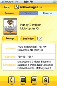 The latest version features advertiser video content and continues to put the power of Yellowpages.ca in the hands of on-the-go users.