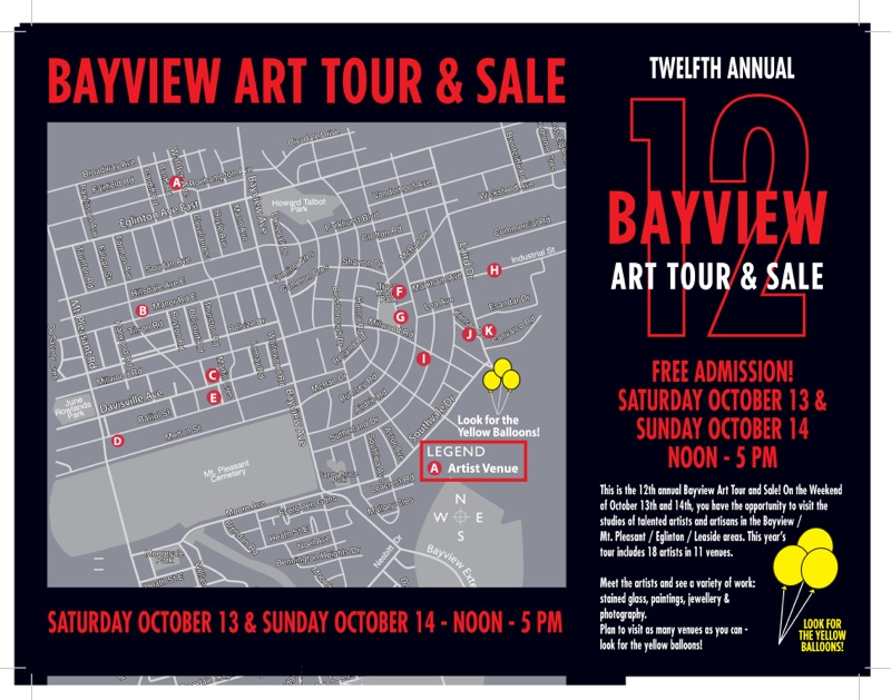 Bayview Art Tour 2012 map