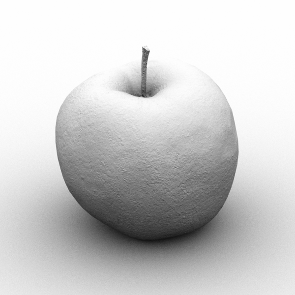 Red Apple 3D model Clay Render