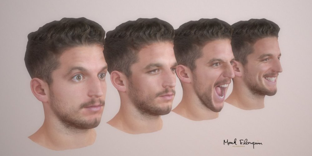 mark-florquin-3d-scanning-scan-photogrammetry-holographer-realistic-3d-Dries Mertens Red Devils Animation Expression