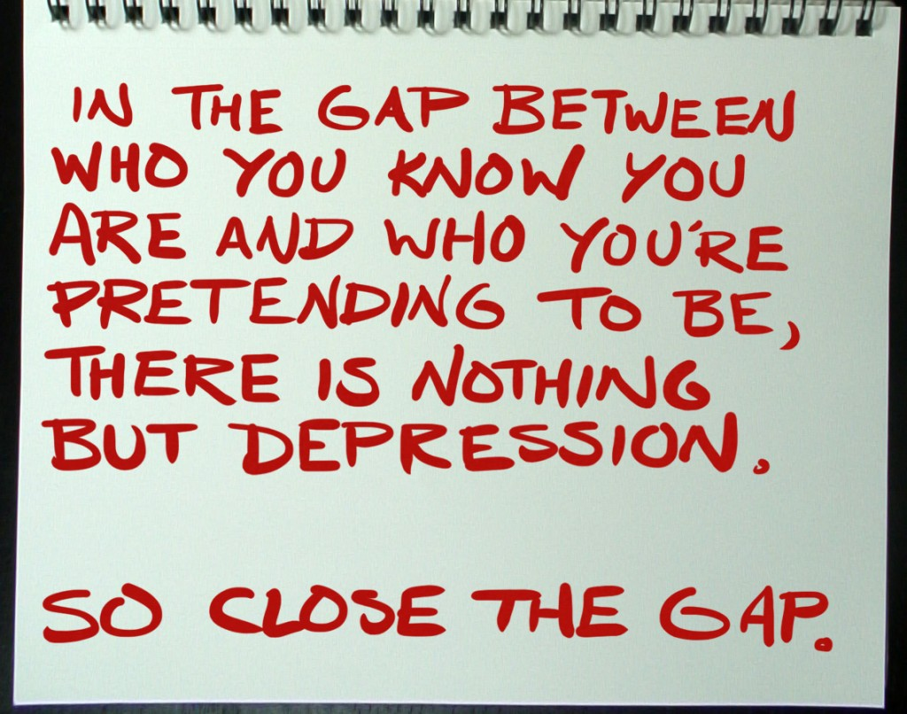 Close The Gap Between Who You Are And Who You Re