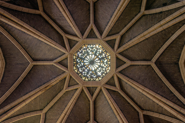 Hennepin Avenue United Methodist Church, Church Ceiling, Abstract, HDR Church, English Gothic, Spire, Minneapolis