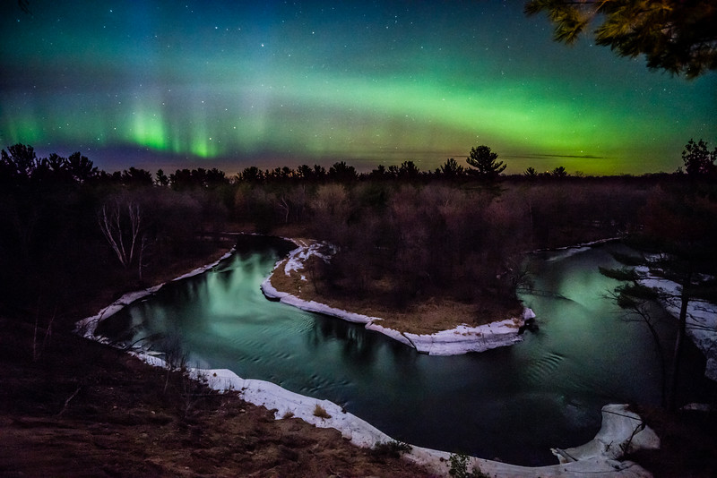 Aurora Borealis, Northern Lights, Sunrise River, Sunrise MN, Central Minnesota Northern Lights, Horseshoe Northern Lights,