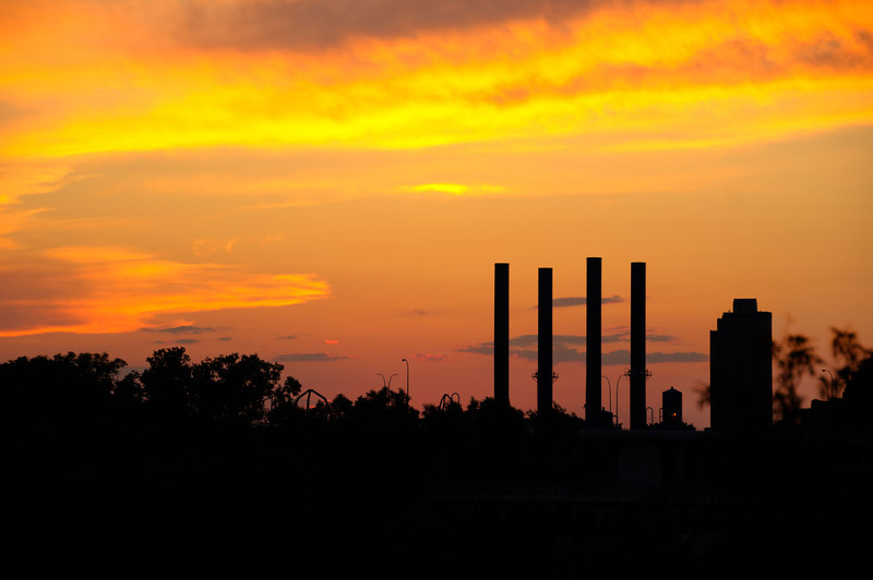 Steam Plant at sunset in Minneapolis summer 2012