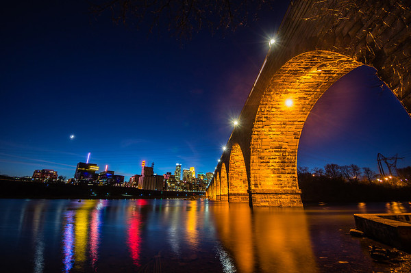 Mill City, Minneapolis, Minnesota, HDR, Stone Arch Bridge, Mississippi River, Stone Arch Bridge HDR, Minneapolis Night HDR