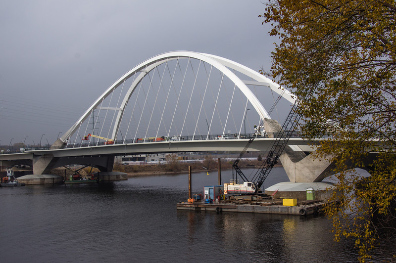 Lowry Avenue Bridge, New Bridge, Red Light Bridge, Minneapolis, Minnesota, Non-HDR, Under Construction Bridge