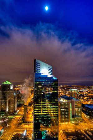 Campbell Mithun, Skyscraper, Foshay Observation Deck, Cityscape, Nightscape, Piper Jaffray Tower