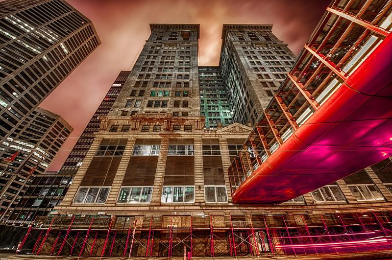 Crimson City, Skyscraper HDR, Minneapolis HDR Photography, Minnesota