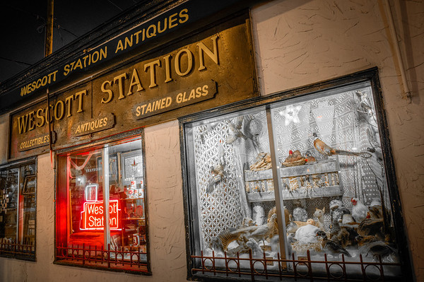 Wescott Station, Manger Scene, Antique Shop