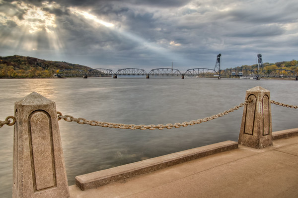 Stillwater Lift Bridge, HDR, Spot Light, St Croix River, Minnesota