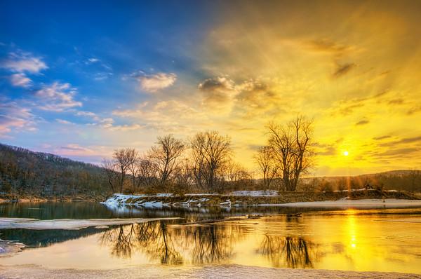 HDR Sunrise, Taylors Falls Sunrise, Interstate Park, Graduated Filter in Lightroom