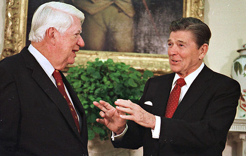 O'Neill and Reagan. Washington Post image