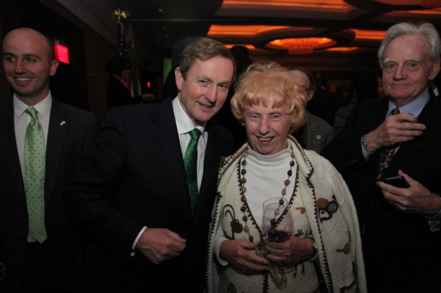 Taoiseach Enda Kenny and Noreen Kinney at St. Patrick's Day reception in Washington, D.C. in March 2013. Photo: Marty Katz