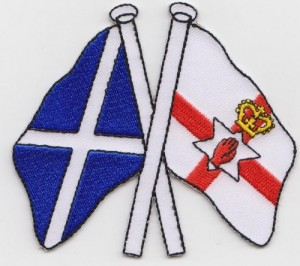 Scotland and Northern Ireland friendship flags.