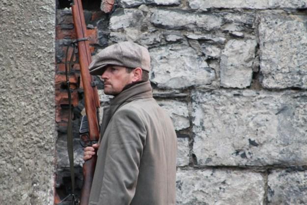 A Terrible Beauty (Áille an Uafáis) - Irish Volunteer (Noel Whelan) on North King St.