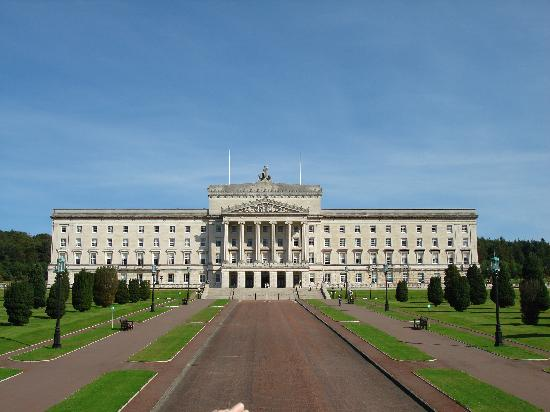 Stormont, the Northern Ireland Assembly building in Belfast.
