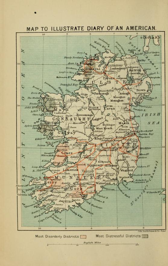 Show Me The Map Of Ireland.William Henry Hurlbert Mark Holan S Irish American Blog