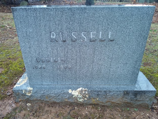 The Russell grave in Fayetteville, Arkansas, 2019.