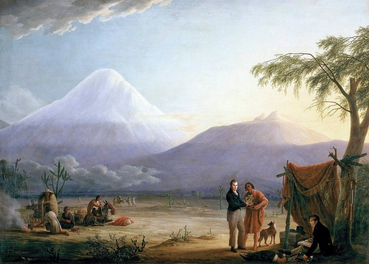 Alexander von Humboldt and Aime Bonpland at the Foot of Volcan Chimborazo by Friedrich Georg Weitsch (Picture: Wikimedia Commons)