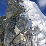 Climber at the top of the Hillary Step in 2008 (Photo: Jamie McGuinness)