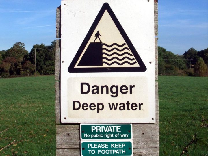 Danger: Deep Water. Sometimes it's best not to go there.