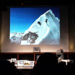 Doug Scott talks about THAT photo of Dougal Haston climbing the Hillary Step during a lecture at the Royal Geographical Society