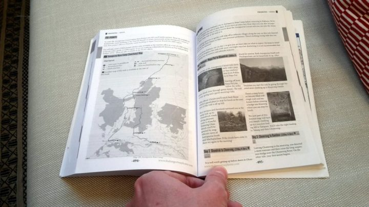 The trekking section contains maps and daily itineraries
