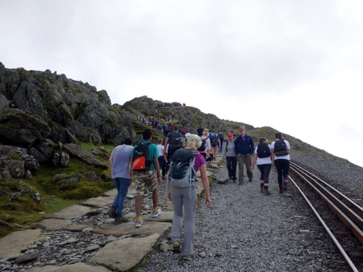 Are these people really climbing Snowdon, or just walking it? Come to think of it, are they even mountaineers?