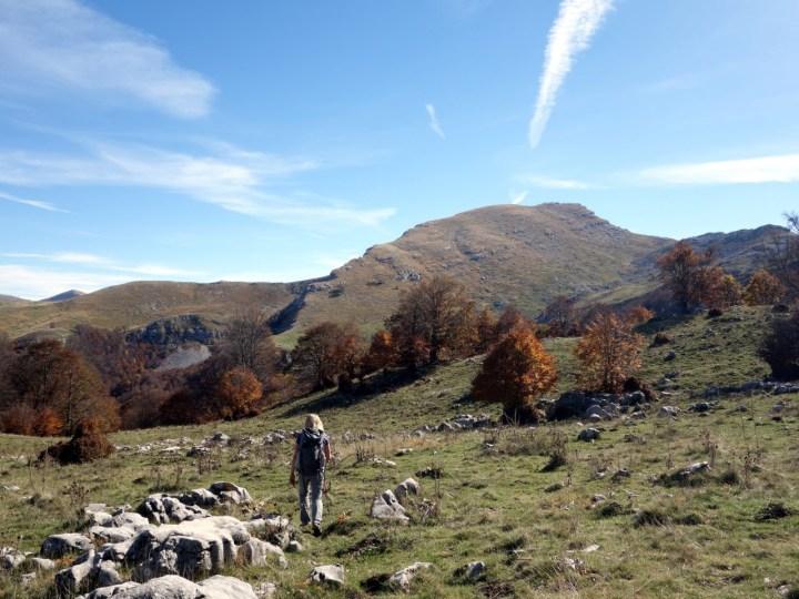 Pleasant meadows beneath Monte Morrone