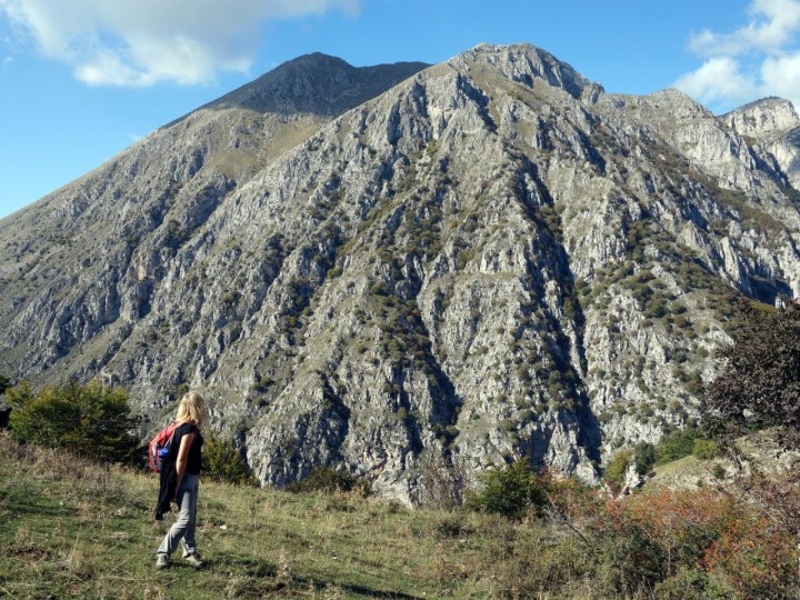 Serra di Celano seen across the Celano Gorge