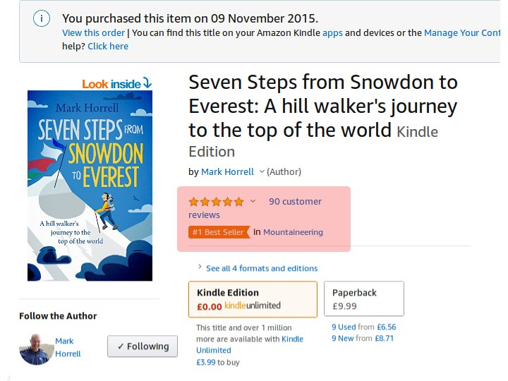 Almost all of my reviews are from complete strangers. I'm very grateful to all of you. It has helped me to become a no.1 bestseller with very little self-promotion beyond this blog.