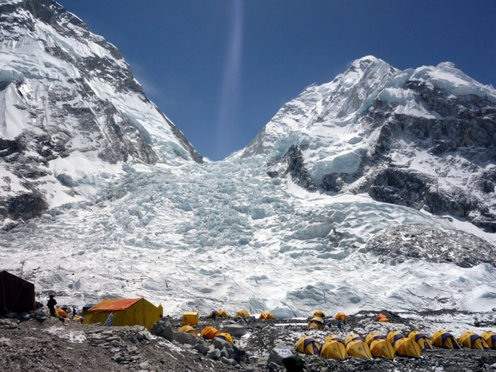 The Khumbu Icefall, a brooding presence in the early stages of the film