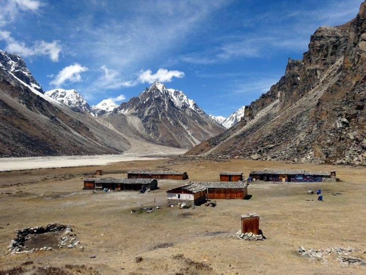 The Great Himalaya Trail at Lhonak near Kangchenjunga