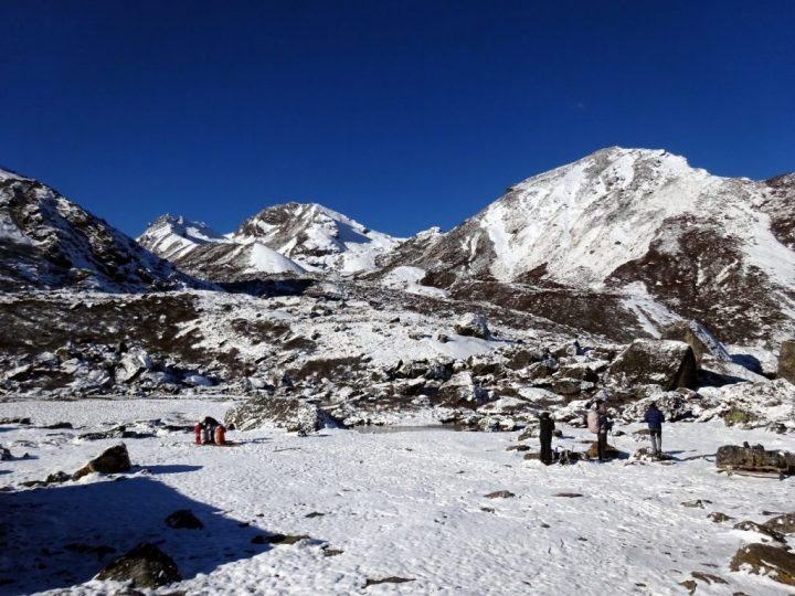The camping ground at Selele after fresh snowfall
