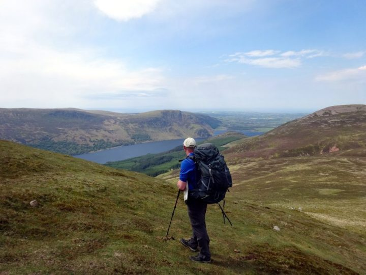 Looking down on Ennerdale Water from the flanks of Starling Dodd