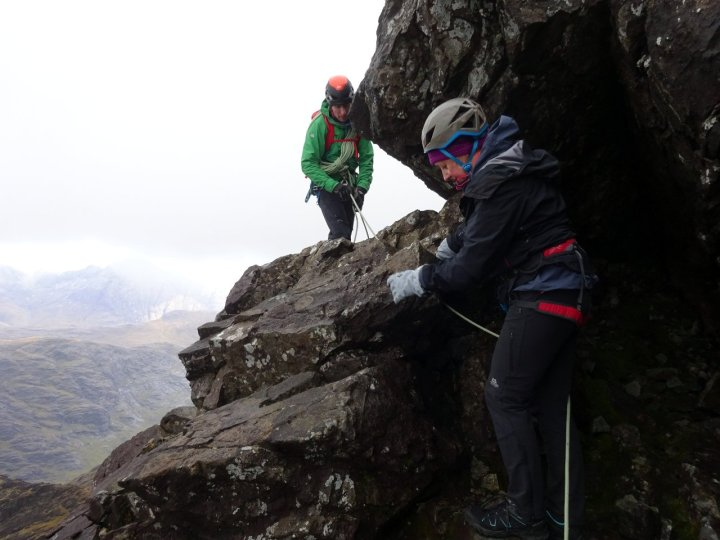Exposed scrambling on Sgurr Mhic Choinnich